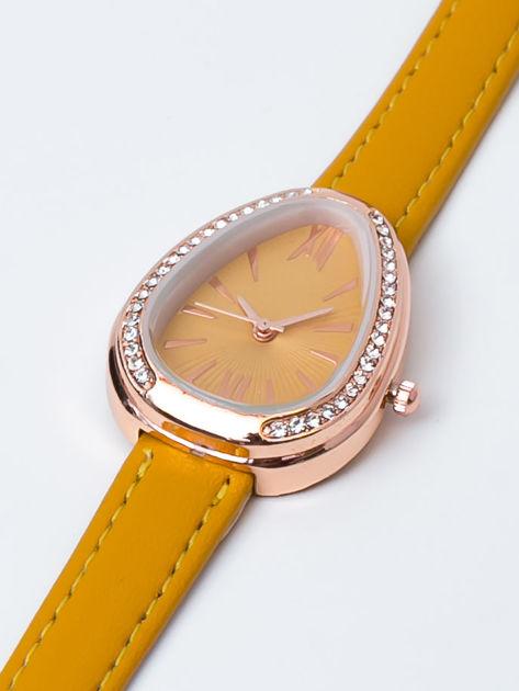 Żółty zegarek damski