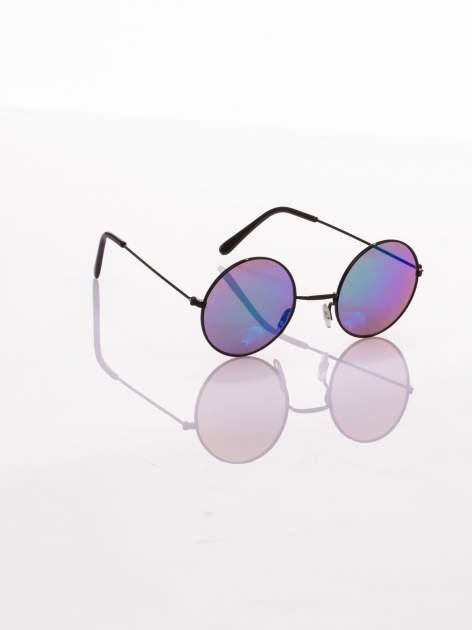 czarne okulary lustrzanki przeciwsłoneczne LENONKI PONADCZASOWE                                  zdj.                                  1