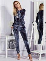 Aksamitne spodnie dresowe ciemnoszare                                  zdj.                                  4