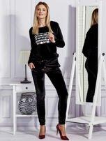 Aksamitne spodnie dresowe czarne                                  zdj.                                  4