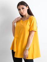 Asymetryczna bluzka żółta                                  zdj.                                  3