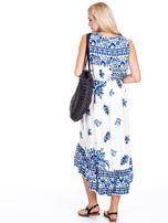 Asymetryczna sukienka w etniczne wzory niebieska                                  zdj.                                  2