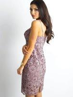 BY O LA LA Różowa sukienka koronkowa                                  zdj.                                  3
