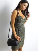 BY O LA LA Khaki sukienka koronkowa                                  zdj.                                  3
