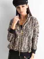 Beżowa bluza w zwierzęce wzory                                   zdj.                                  3