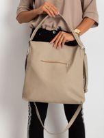 Beżowa damska torba z ekoskóry                                  zdj.                                  2