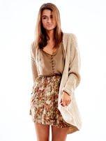 Beżowa spódnica w kwiatowe wzory                                  zdj.                                  5