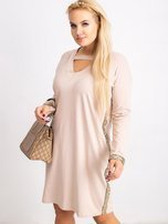 Beżowa sukienka plus size Mode                                  zdj.                                  5
