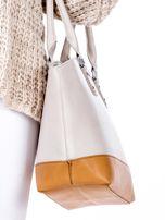 Beżowa torba damska two tone                                  zdj.                                  2