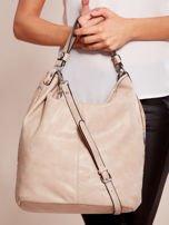 Beżowa torba z łączonych materiałów w stylu japońskim                                  zdj.                                  6
