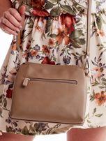 Beżowa torebka damska z klapką                                  zdj.                                  4