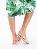 Beżowe sandały z ozdobnym frędzelkowym przodem                                  zdj.                                  8