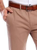 Beżowe spodnie męskie chinosy                                  zdj.                                  6