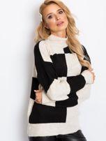 Beżowo-czarny sweter Francesca                                  zdj.                                  5