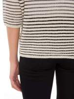 Beżowy półtransparentny sweter w prążki                                  zdj.                                  8