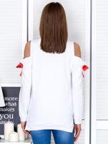Granatowa bluza cut out z wstążkami