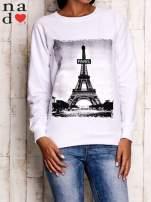 Biała bluza z motywem Wieży Eiffla                                  zdj.                                  2
