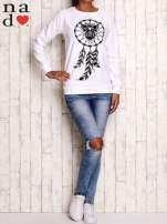 Biała bluza z motywem sowy i łapacza snów                                                                          zdj.                                                                         3