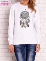 Biała bluza z nadrukiem łapacza snów                                  zdj.                                  1