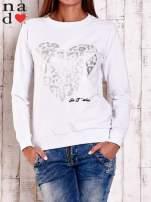 Czarna bluza z nadrukiem serca i napisem JE T'AIME
