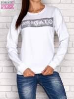 Biała bluza z napisem ARIGATO                                  zdj.                                  2