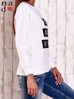 Biała bluza z napisem PARIS LONDON NEW YORK                                  zdj.                                  4