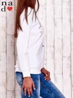 Biała bluza z wzorem serca                                                                          zdj.                                                                         3