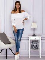 Biała bluzka hiszpanka z koronkową lamówką                                  zdj.                                  4