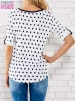 Biała bluzka w groszki                                  zdj.                                  4