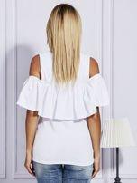 Biała bluzka z falbaną                                  zdj.                                  2