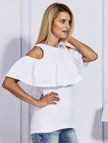 Biała bluzka z falbaną                                  zdj.                                  5