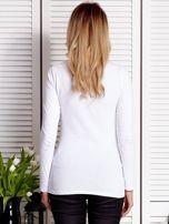Biała bluzka ze sznurowaną wstawką                                  zdj.                                  2