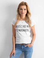 Biała damska koszulka z napisem                                  zdj.                                  1