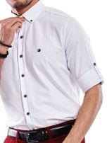 Biała koszula męska regular fit z podwijanymi rękawami                                   zdj.                                  5