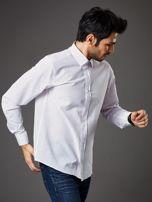 Biała koszula męska w granatowo-czerwone kropki regular fit                                  zdj.                                  7