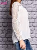 Biała koszula mgiełka z koronkowymi rękawami                                   zdj.                                  3