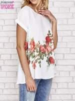 Biała koszula z motywem kwiatów                                  zdj.                                  3