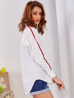 Biała koszula z perełkami na mankietach                                  zdj.                                  5