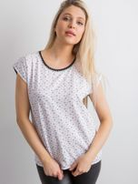 Biała koszulka w drobne kwiaty                                  zdj.                                  1
