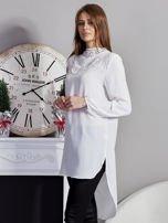 Biała koszulowa tunika z koronką                                  zdj.                                  3