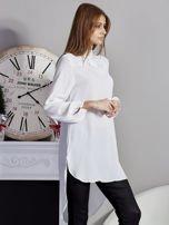 Biała koszulowa tunika z koronką                                  zdj.                                  5