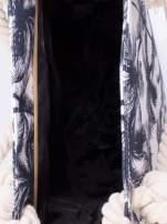 Biała plażowa torba w palmy na sznurku                                  zdj.                                  3