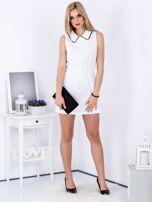 Biała sukienka z kołnierzykiem                                   zdj.                                  4