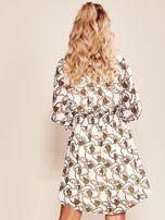 Biała sukienka z printem                                  zdj.                                  2