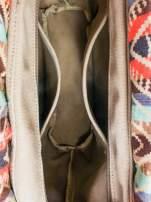 Biała torba gumowa z motywem azteckim                                  zdj.                                  7