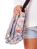 Biała torba na ramię z kolorowym nadrukiem                                  zdj.                                  2