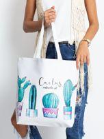 Biała torba w kaktusy                                  zdj.                                  1