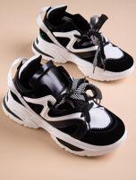 Białe buty sportowe na platformie z podwójnymi sznurówkami                                  zdj.                                  5