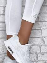 Ciemnofioletowe legginsy sportowe z patką z dżetów na dole                                                                          zdj.                                                                         4