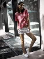 Białe materiałowe szorty z podwijaną nogawką                                  zdj.                                  1